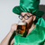 happy man in stpatriks costume drinking beer stock photo © deandrobot