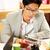 olvas · utasítás · üzletember · irat · üzlet · beszél - stock fotó © deandrobot