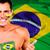 флаг · Рио-де-Жанейро · дизайна · зеленый · стране - Сток-фото © deandrobot