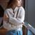 portret · peinzend · meisje · permanente · exemplaar · ruimte - stockfoto © deandrobot