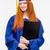 lány · érettségi · sapka · bizonyítvány · oktatás · boldog · lány - stock fotó © deandrobot