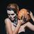 женщину · испуганный · скелет · макияж · тыква - Сток-фото © deandrobot