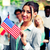 portret · szczęśliwy · patriotyczny · dziewczyna · USA - zdjęcia stock © deandrobot
