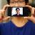 portret · man · focus · smartphone · gezicht - stockfoto © deandrobot