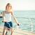 пляж · Постоянный · женщину - Сток-фото © deandrobot