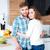 iki · kişi · diğer · mutfak · sevmek · adam - stok fotoğraf © deandrobot
