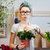 femme · fleuriste · jeunes · femme · souriante · travail · jardin - photo stock © deandrobot
