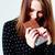atrakcyjna · kobieta · jedzenie · czekolady · przekąska · dość · brunetka - zdjęcia stock © deandrobot