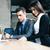 business · met · behulp · van · laptop · witte · vrouw · laptop - stockfoto © deandrobot