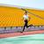 kobieta · uruchomiony · stadion · portret · sportowe · dziewczyna - zdjęcia stock © deandrobot