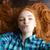 portre · sevimli · genç · kadın · öpücük · beyaz - stok fotoğraf © deandrobot
