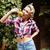 portret · kobieta · winogron · owoce · młodych · winogron - zdjęcia stock © deandrobot