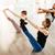 kadın · oturma · bacaklar · grup · yoga - stok fotoğraf © deandrobot