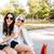 пару · оптик · оптик · покупке · Солнцезащитные · очки · женщину - Сток-фото © deandrobot