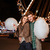 smiling young couple with cotton candy stock photo © deandrobot