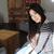 donna · capelli · lunghi · seduta · sedia · guardando · sole - foto d'archivio © deandrobot