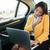 retrato · femenino · hablar · teléfono · mujer · de · negocios - foto stock © deandrobot