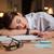 устал · исчерпанный · молодые · деловая · женщина · спальный · служба - Сток-фото © deandrobot