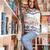 diák · könyvtár · boldog · nő · tanulás · könyv - stock fotó © deandrobot