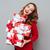 vrolijk · vrouwelijke · christmas · geschenken · home · mooie - stockfoto © deandrobot