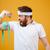 ハンサム · あごひげを生やした · ボディービル · 男 · 画像 · スポーツ - ストックフォト © deandrobot