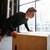 side view of young athletic man push ups on box stock photo © deandrobot