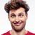 retrato · engraçado · homem · cabelos · cacheados · cinza - foto stock © deandrobot