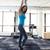 женщину · кольцами · спортзал · вид · сбоку · портрет - Сток-фото © deandrobot