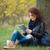 donna · i · capelli · ricci · esterna · ritratto · bella · donna - foto d'archivio © deandrobot