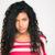 hermosa · afro · americano · mujer · mirando · cámara - foto stock © deandrobot