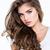 encantador · mujer · largo · pelo · rizado · mirando · cámara - foto stock © deandrobot