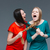 two crazy women pulling braids of each other and shouting stock photo © deandrobot