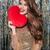 magnifico · donna · rosso · cuore · bianco - foto d'archivio © deandrobot