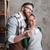 heureux · affectueux · couple · permanent · cuisine · potable - photo stock © deandrobot