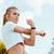 肖像 · フィットネス女性 · スポーツ · 階段 · 屋外 · 女性 - ストックフォト © deandrobot