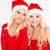 güzel · ikizler · kırmızı · noel · baba · elbise - stok fotoğraf © deandrobot