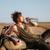jonge · brutaal · man · leggen · motorfiets · drinkwater - stockfoto © deandrobot
