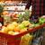 satın · alma · meyve · portre · kadın · turuncu · alışveriş · çantası - stok fotoğraf © deandrobot