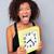 afro · americano · donna · sveglia - foto d'archivio © deandrobot