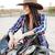 alegre · mulher · jovem · sela · equitação · cavalo · retrato - foto stock © deandrobot
