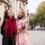 mooie · meisjes · poseren · straat · drie · mooie - stockfoto © deandrobot