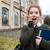 студент · девушки · портрет · книгах · рюкзак - Сток-фото © deandrobot