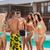 csoport · legjobb · barátok · buli · úszómedence · kint · nő - stock fotó © deandrobot
