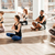group of people relaxing in lotus pose at yoga studio stock photo © deandrobot