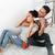 happy young loving couple sitting on floor in new flat stock photo © deandrobot
