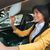 young business woman looking in mirror while driving car stock photo © deandrobot