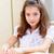iskolás · lány · ül · elsődleges · osztály · diák · ír - stock fotó © deandrobot