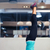 woman doing yoga exercises in gym stock photo © deandrobot