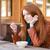 женщину · телефон · портрет · молодые · блондинка - Сток-фото © deandrobot