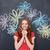 vrouw · poseren · bloemen · portret · aantrekkelijk - stockfoto © deandrobot